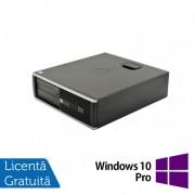 Calculator HP 6300 SFF, Intel Core i3-2120 3.30GHz, 4GB DDR3, 250GB SATA, DVD-RW + Windows 10 Pro