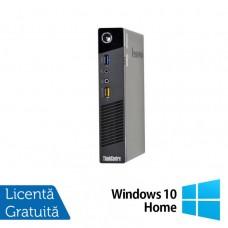 Calculator Lenovo M73 USFF, Intel Pentium G1820, 4GB DDR3, 160GB SATA + Windows 10 Home