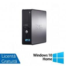 Calculator Dell 780 SFF, Intel Core 2 Duo E7500 2.93GHz, 2GB DDR3, 160GB SATA, DVD-ROM + Windows 10 Home