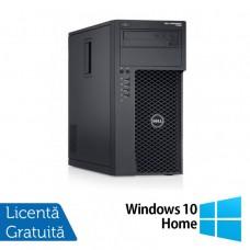 Workstation Dell Precision T1700, Intel Xeon Quad Core E3-1271 V3 3.60GHz - 4.00GHz, 8GB DDR3, 120GB SSD + 1TB SATA, nVidia Quadro 2000/1GB, DVD-RW + Windows 10 Home