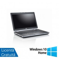 Laptop DELL Latitude E6520, Intel Core i7-2640M 2.80GHz, 8GB DDR3, 500GB SATA, DVD-RW, 15 Inch + Windows 10 Home
