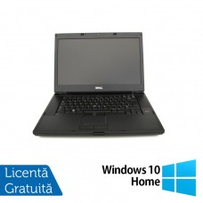 Laptop DELL Latitude E6500, Intel Core 2 Duo T9400 2.53GHz, 4GB DDR2, 160GB SATA, DVD-RW, 15 Inch + Windows 10 Home
