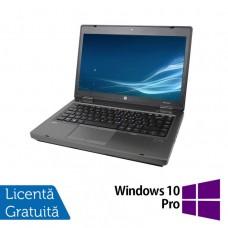 Laptop HP ProBook 6475b, AMD A4-4300M 2.50GHz, 4GB DDR3, 320GB SATA, DVD-RW, 14 Inch + Windows 10 Pro