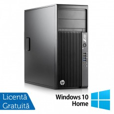 Workstation HP Z230 Tower, Intel Xeon Quad Core E3-1245 v3 3.40GHz-3.80GHz, 16GB DDR3, 1TB SATA, DVD-RW, AMD Radeon HD 7350 1GB GDDR3 + Windows 10 Home