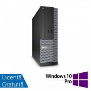 Calculator DELL Optiplex 3020 SFF, Intel Pentium G3220 3.00GHz, 8GB DDR3, 500GB SATA, DVD-RW + Windows 10 Pro